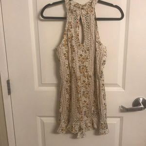 Floral painted romper never worn